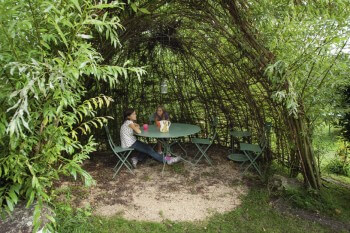 Cabane vivante en saule tressé