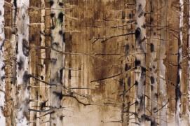 Forêt de bouleaux à l'encre de chine et au brou de noix / ©  Ji Young Demol Park