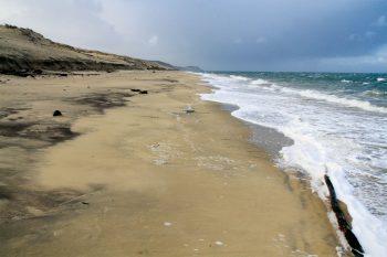 La plage au pied de la…