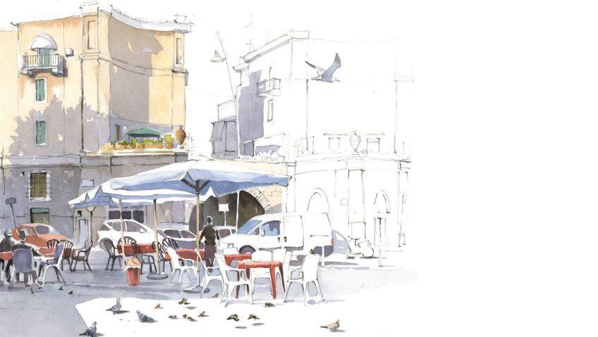 Un instant en terrasse avec les moineaux, par Federico Gemma