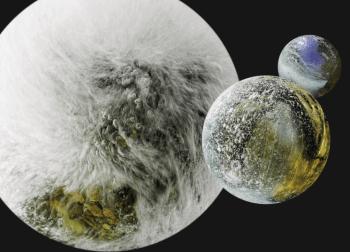 Paysage subaquatique à travers un objectif fish-eye, ou comment faire de l'eau une planète.
