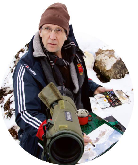Denis Clavreul le peintre des aigles