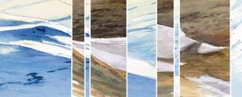 En quête du lièvre variable, Laurent Willenegger a parcouru les Alpes durant le printemps, en pleine fonte des neiges. Ses pinceaux ont saisi la beauté du paysage et Jean-Luc Wisard notre graphiste en a fait des compositions graphiques.
