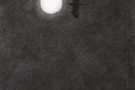 La silhouette d'un héron cendré en vol se découpe dans la lumière de la pleine lune. / © Jean Chevallier