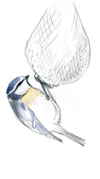 Mélange bleue sur une boule de graisse
