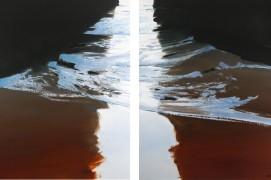 Sous-marine,huile sur toile / diptyque / © Dominique Abraham