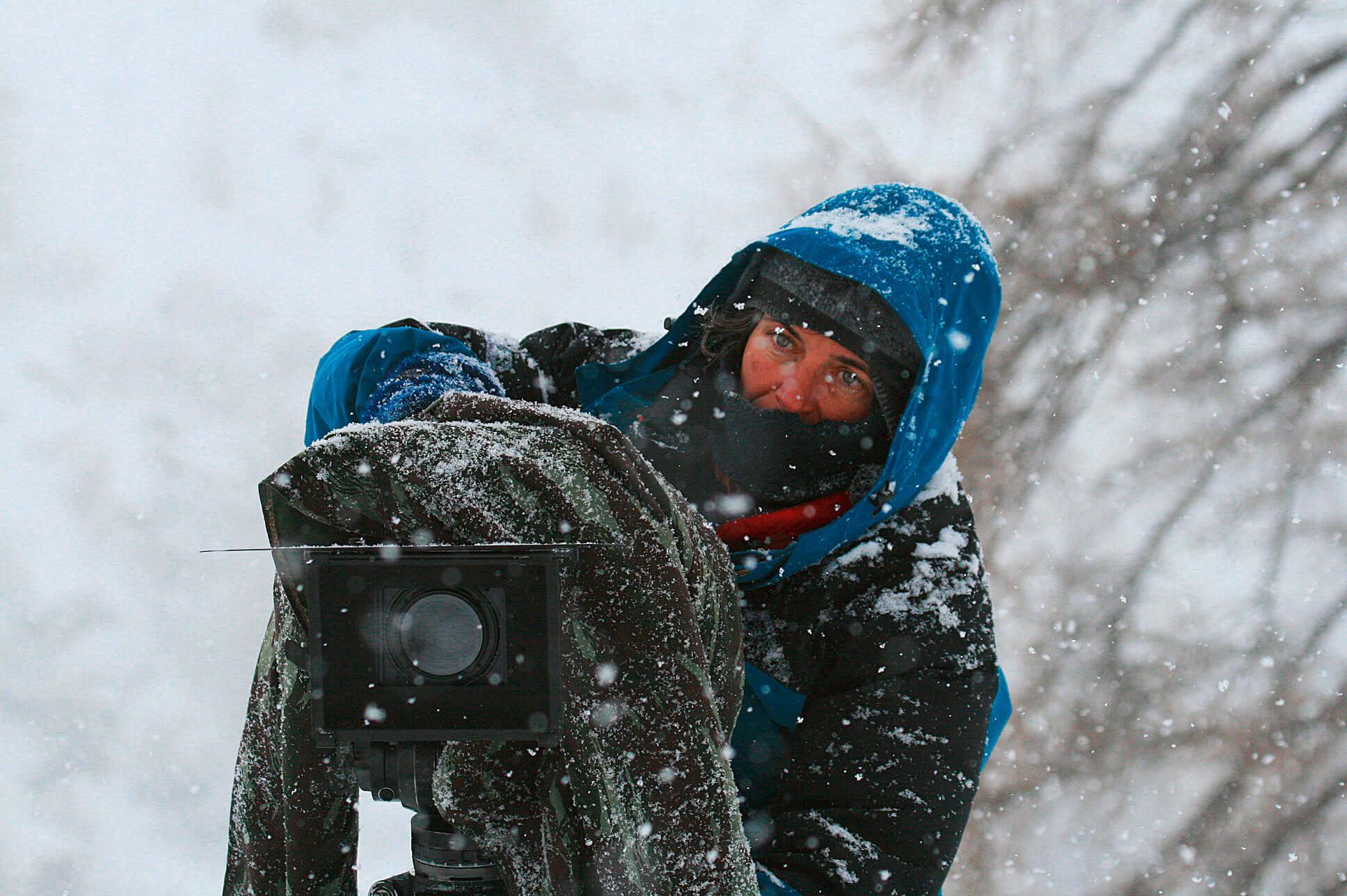 Anne Lapied durant le tournage du…