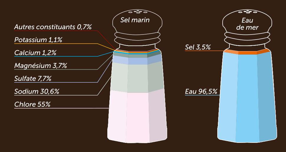Composition du sel marin