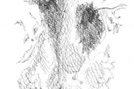 Empreinte de chevreuil dans de la boue molle. « Les 2 doigts vestigiaux se sont imprimés. » / © Sylvain Leparoux