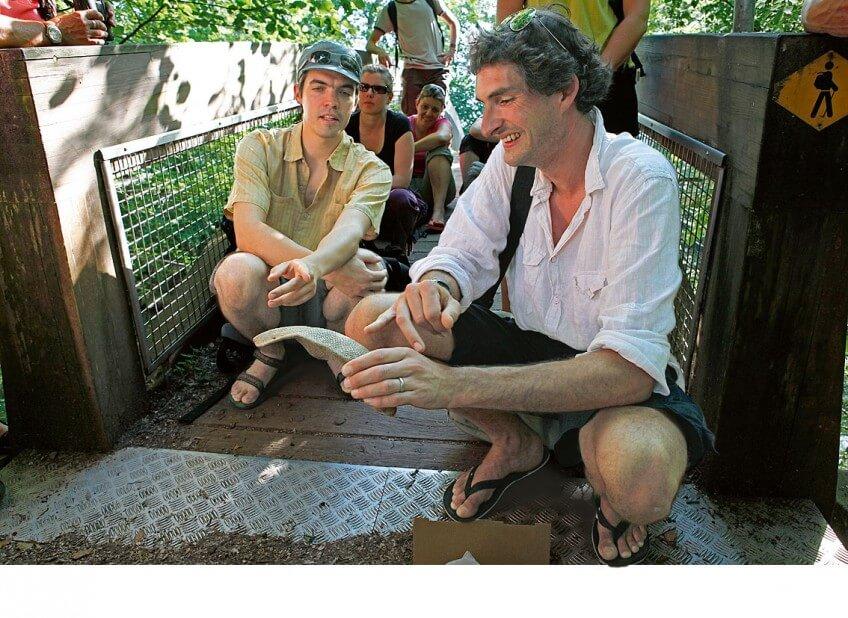 Laurent Willenegger (premier plan) et Vincent Delfosse