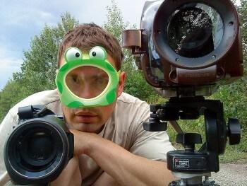 Vincent Chabloz sur le tournage de Les nouveaux castors