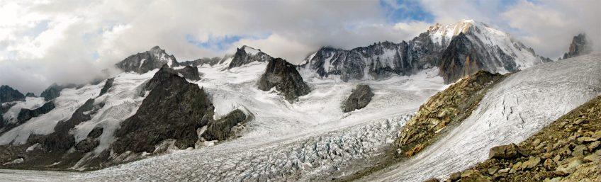 Les glaciers reculent, ici le glacier de Saleina