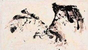 «L'envol du vautour» - Acrylique sur toile, 100 x 65cm