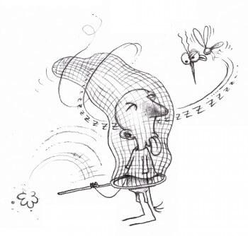 Dessin humoristique protection contre les moustiques