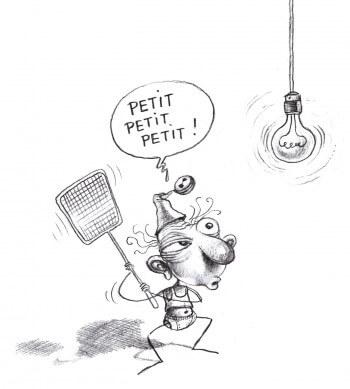 Dessin humoristique sur la chasse aux moustiques