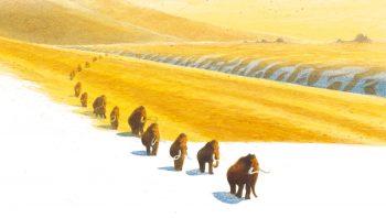 En automne, de nombreux mammouths migraient…