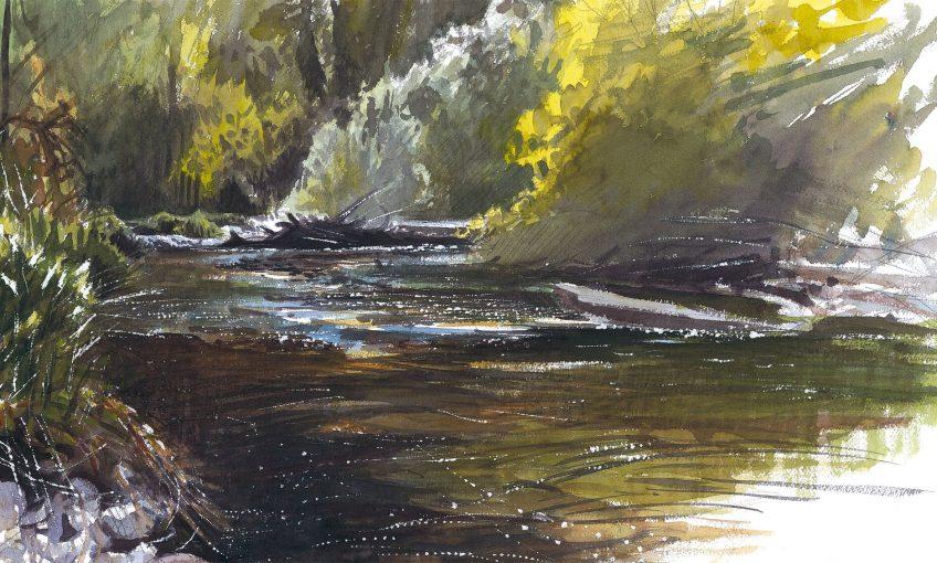 La rivière dessinée par Laurent Willenegger