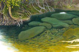 L'eau claire de cette rivière calme révèle son fond caillouteux. / © Jérôme Gremaud