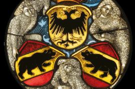 Vitrail rond aux armes bernoises daté de 1480. / © Bernisches Historisches Museum