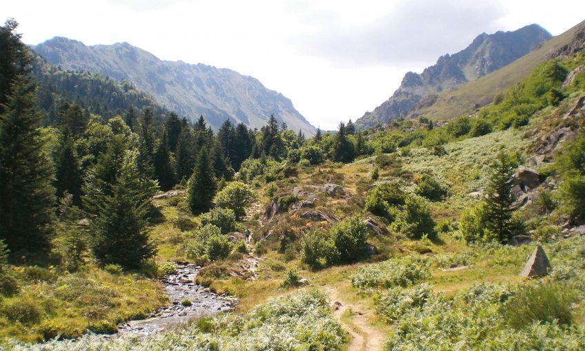 Promenade à Hérens-Les-Vals dans les Pyrénées