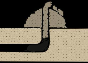 Taupe: Galerie verticale au centre de la taupinière