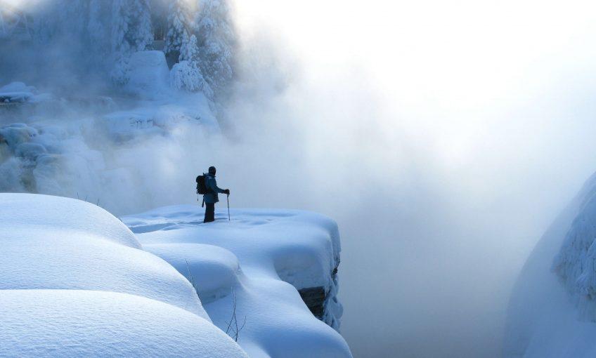 neige raquette balade chute