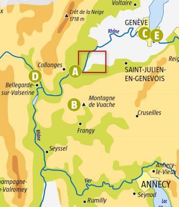 Balade le long du Rhône, là où il dépasse les bornes - La Salamandre escapade balade rhône Chancy