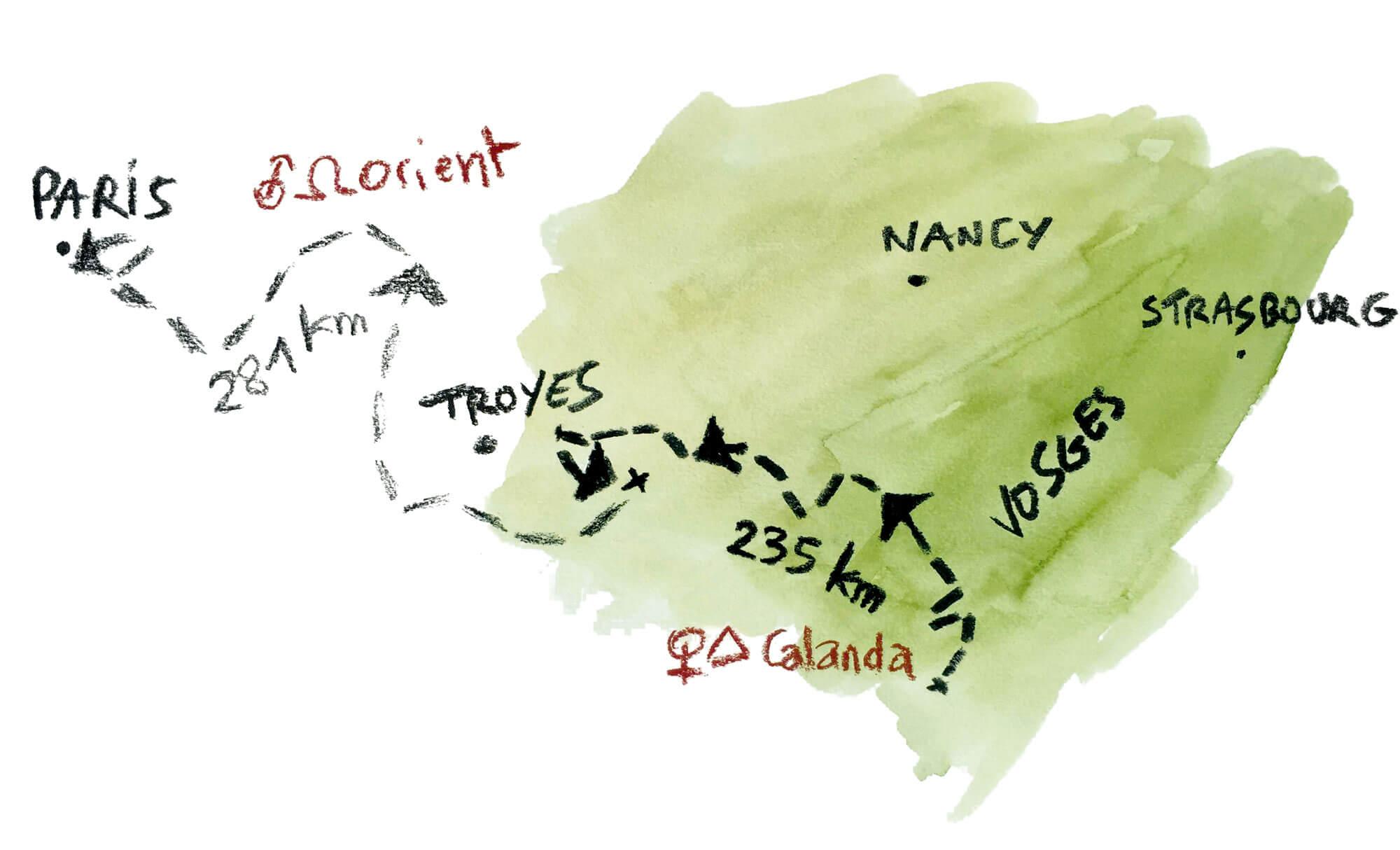 Quand un loup débarque en pleine ville de Paris - La Salamandre dessin Tsunehiko Kuwabara carte déplacement loup