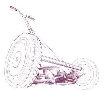 dessin Tondeuse à rouleau