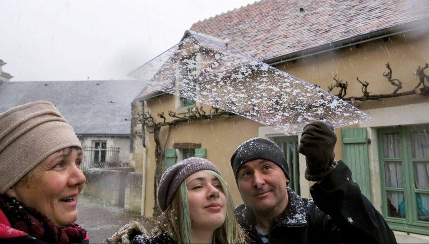 Piégez et observer des flocons de neige près de chez vous