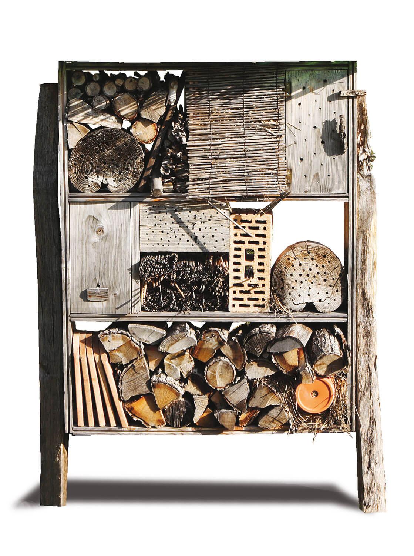Hôtel à insectes bois abeille