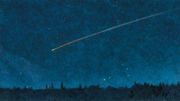 Une étoile filante particulièrement lumineuse traverse…