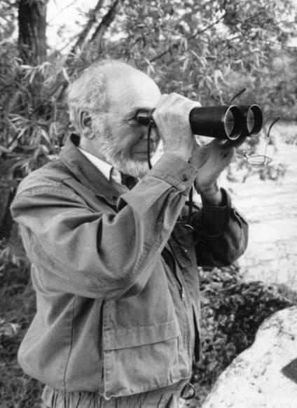 Héron: persécutions et solutions emile sermet ornithologue noir blanc jumelle