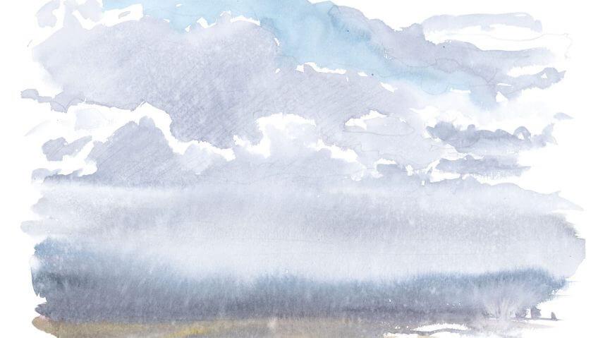 dessin pluie balade de juillet, enfin la pluie ! - La Salamandre