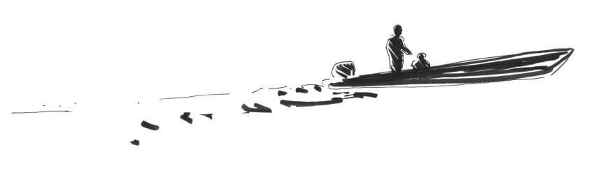 Première étape d'un voyage en suivant les oiseaux migrateurs - La Salamandre dessin