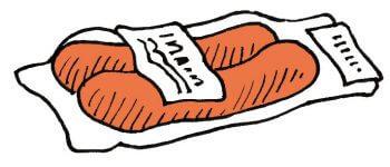 Bien préparer mon premier affût à chevreuil - La Salamandre dessin cervelas appat