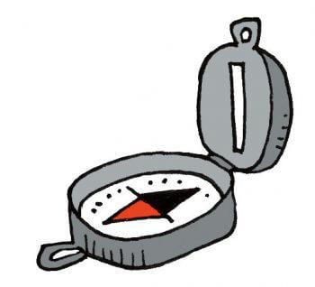 Bien préparer mon premier affût à chevreuil - La Salamandre dessin boussole