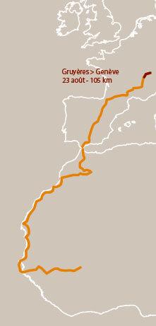 Première étape d'un voyage en suivant les oiseaux migrateurs - La Salamandre carte