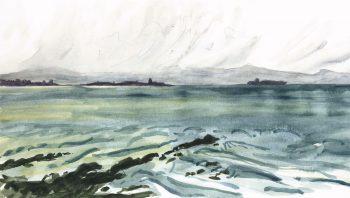Vue sur la mer depuis Tarifa, détroit de Gibraltar