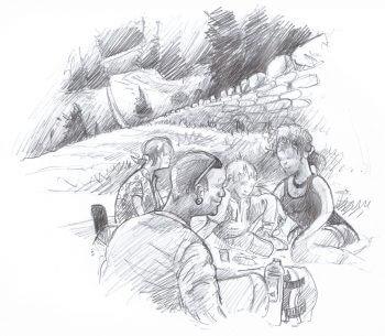 Les murs de pierres du canton de Vaud, des limites si claires - La Salamandre dessin famille