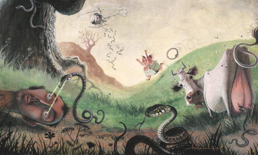 dossier complet serpent couleuvre collier dessin vache préjugés la salamandre