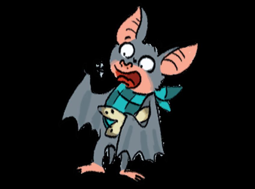 Illustration d'une chauve-souris mangeant des insectes
