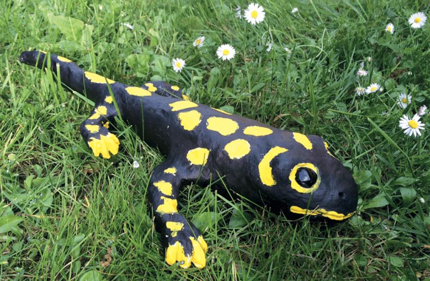 Sculpture d'une salamandre faite par Maya (6 ans), une lectrice de la Petite Salamandre