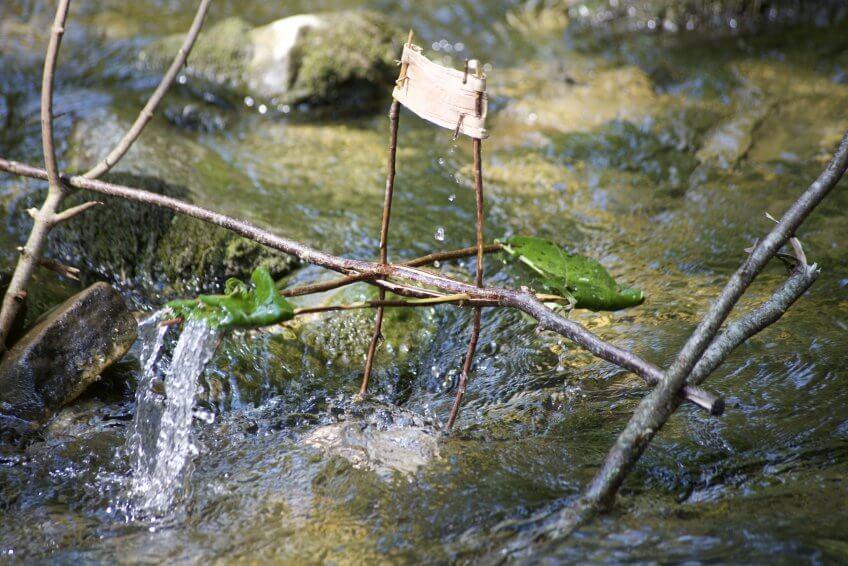 Un moulin à eau.