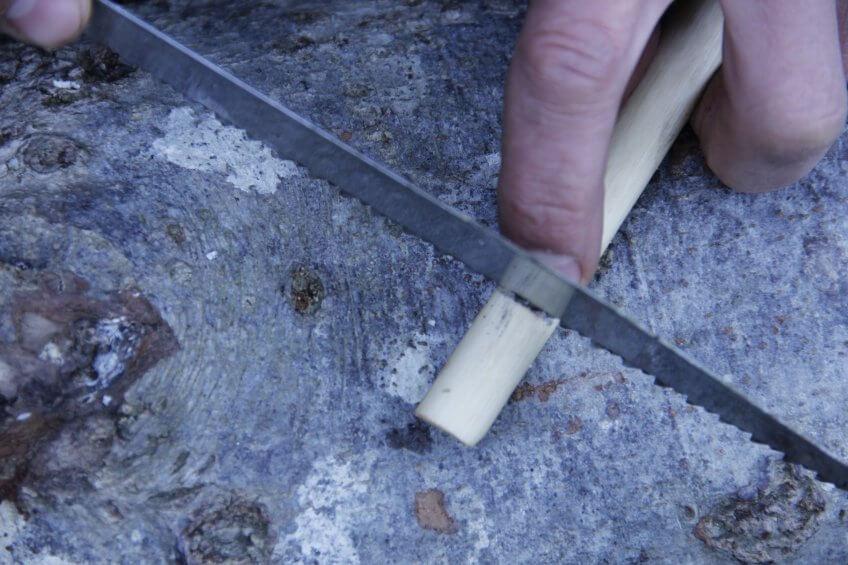 étape 6 de la création d'une flûte.