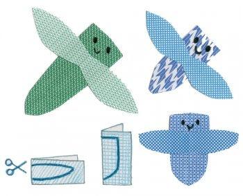 Des petits animaux en papier recyclé