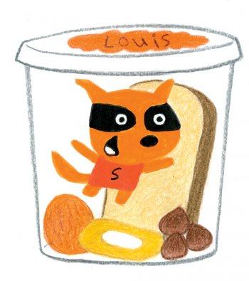 Une boîte à goûter écureuil