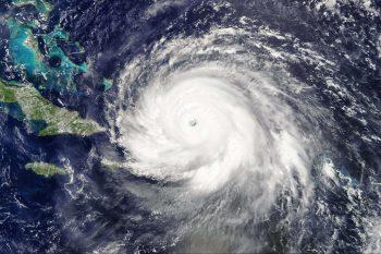 L'ouragan Irma vue par le satellite Terra le 7 septembre 2017