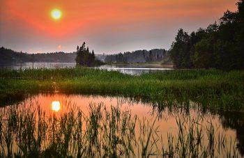 sunset-lake-landscape-summer