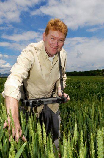 Dario Fossati spécialiste des céréales à l'Agroscope, le centre de compétences de la Confédération suisse pour la recherche agronomique